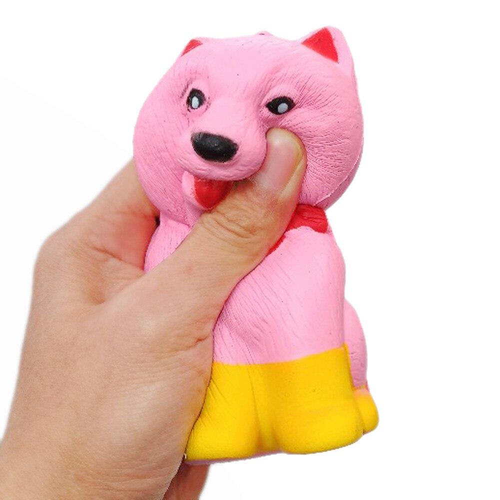 MUQGEW Jumbo Pomeranian Unbreakable Squishy Cute Dog Toy For Kids Slow Rising Scented Fun Animal Toys jouets pour enfants ga1