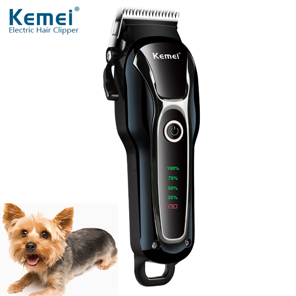 KEMEI KM-1991 Professional Clipper Pet Dog Hair Trimmer Grooming Rechargeable Powerful Cat Cutters Shaver Mower Haircut MachineKEMEI KM-1991 Professional Clipper Pet Dog Hair Trimmer Grooming Rechargeable Powerful Cat Cutters Shaver Mower Haircut Machine