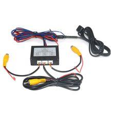 Автомобильная парковочная камера видео канал конвертер Авто переключатель спереди/вид сбоку/заднего вида камера видео управление коробка с Мануа