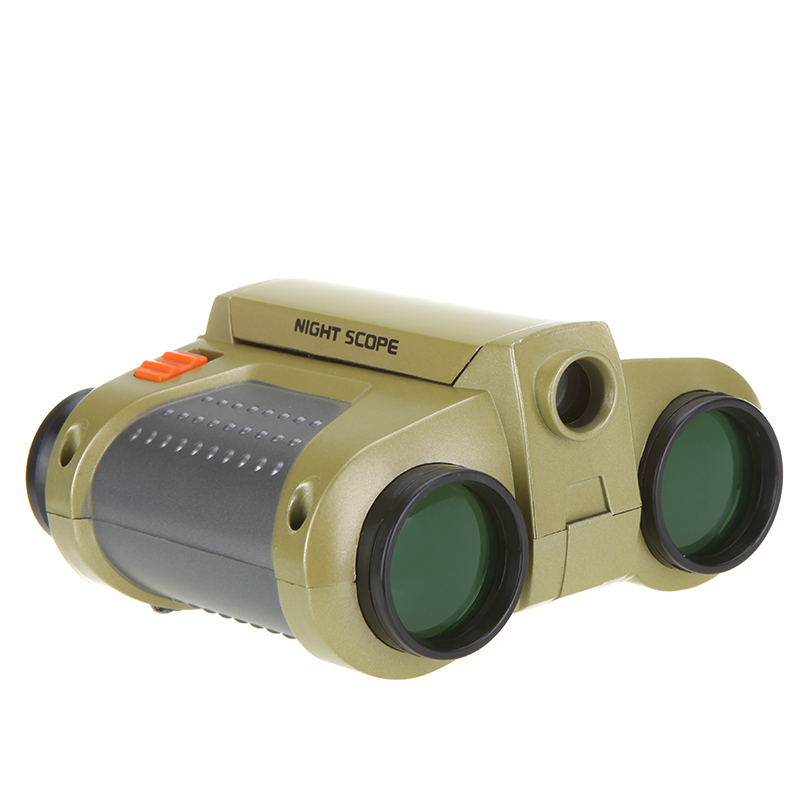 High Quality Binoculars 4 x 30mm Folding Telescope with Pop-up Light Binoculars Night Vision Scope Telescope for Hunting