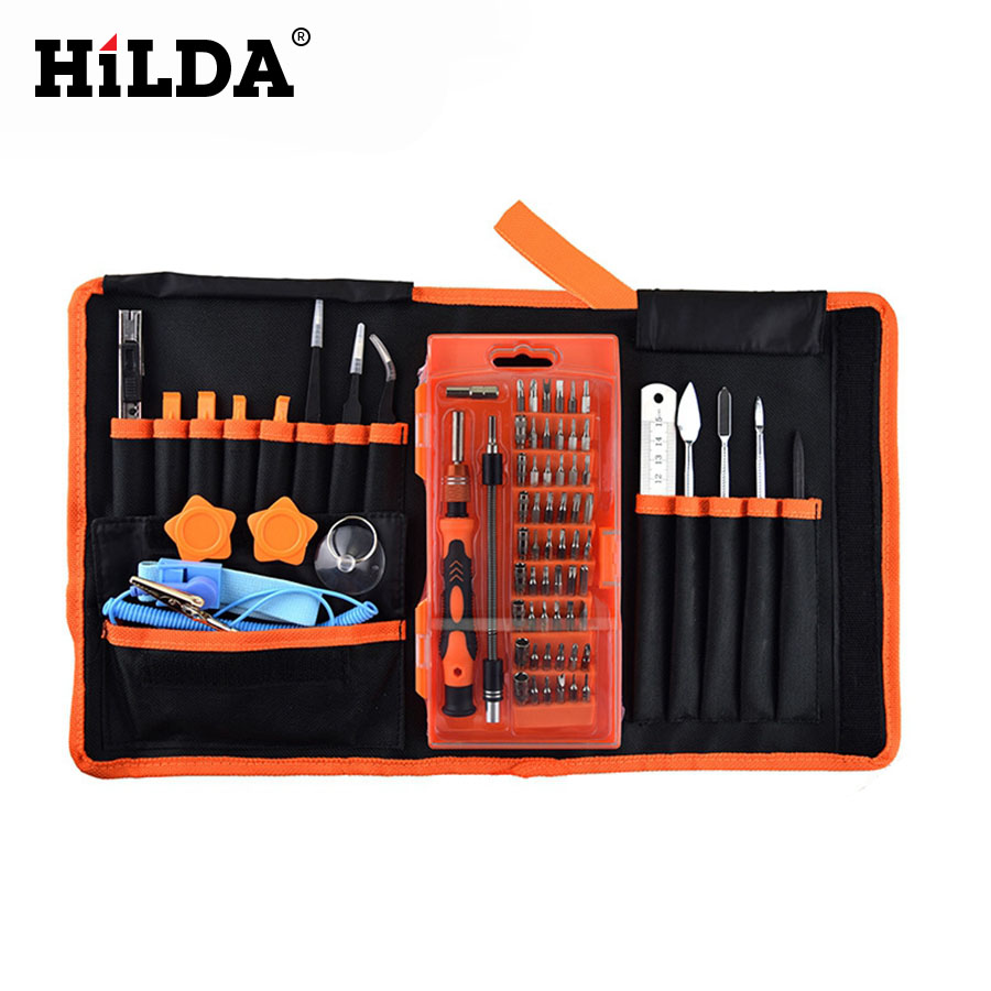 HILDA 75 PCS in 1 Magnetic Driver and Tablet PC Repair for Mobile Phone Kit Precision Sc ...