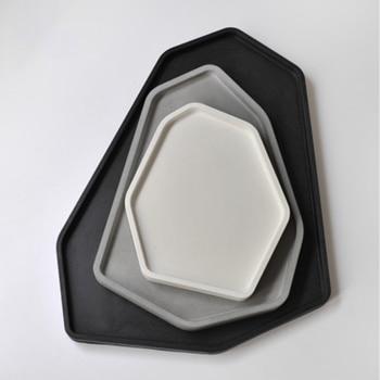 Calcestruzzo del silicone del vassoio stampo di forma irregolare di cemento vaso di fiori muffa del vassoio gesso artigianato muffa