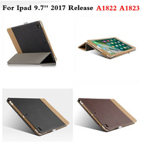 Fashion PU Leather Business Case Flip Book Cover Coque Stitching Colors For New Apple IPad 9