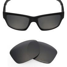 Mryok + POLARIZADA Jupiter Squared Óculos de Sol Lentes de Reposição para  óculos Oakley Resistir À Água Do Mar Stealth Black 2306a26d49