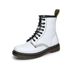 Осень-зима низком Британский Мартинсы Обувь Для женщин кожа трубы любителей кожа короткие FEM тапки