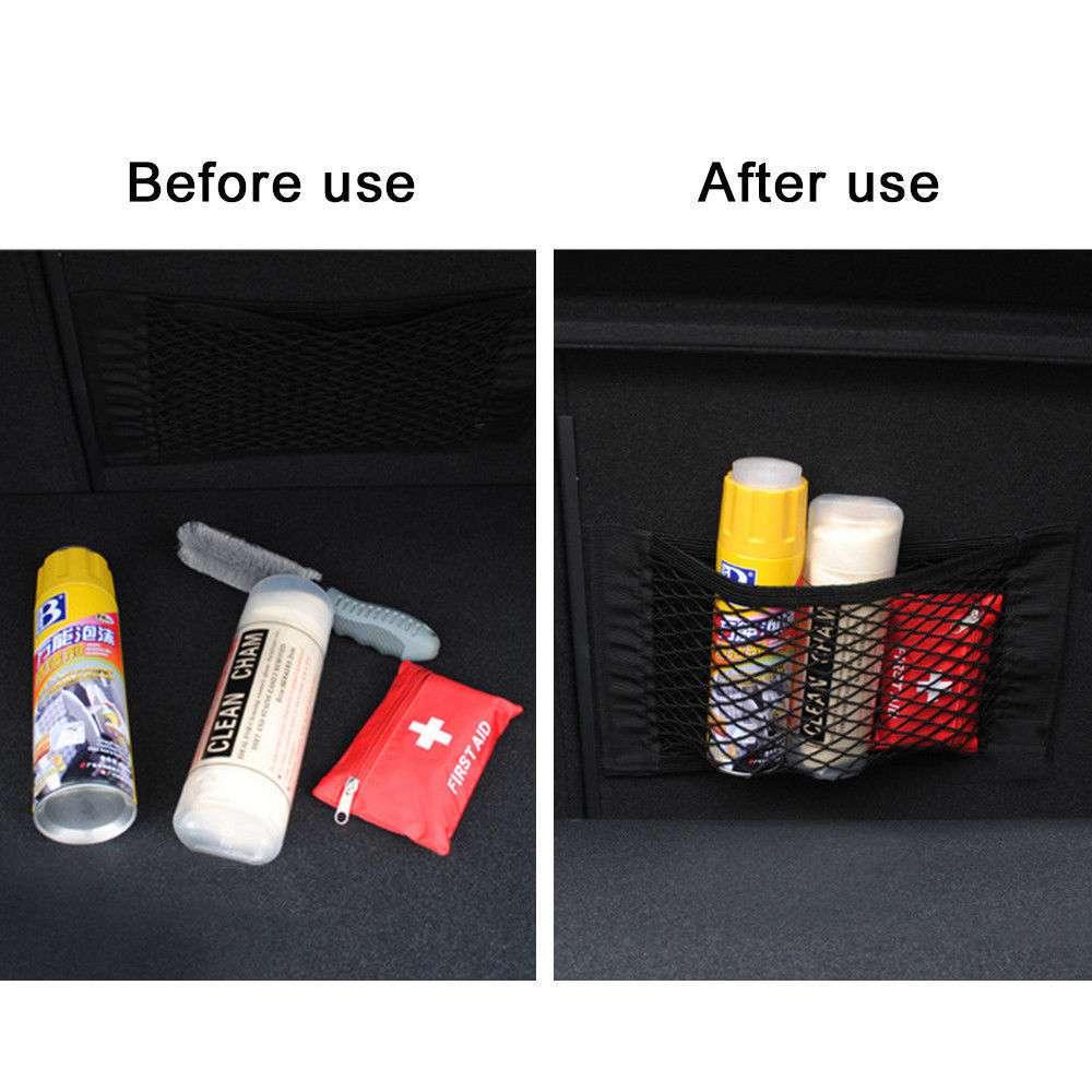 Image 4 - Car back seat elastic storage bag for hyundai i30 nissan juke mazda 323 kia picanto mazda 3 2008 audi a3 for skoda rapid-in Car Tax Disc Holders from Automobiles & Motorcycles