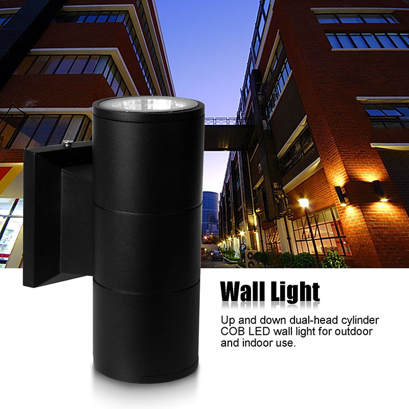 6W 10W COB LED Wall Light Up And Down Round Wall Lamp Waterproof IP65 AC 85-265V Indoor Outdoor Lighting And Decoration black led wall light waterproof ip65 stainless steel up down gu10 double wall lamp indoor outdoor wall lamp ac 85 265v