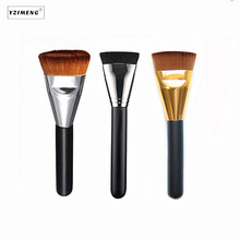 цена на Soft Cosmetic Make Up Flat Contour Brush Powder Foundation Brush Blush Angled Flat Top Base Liquid Cosmetic Makeup Brush Tools