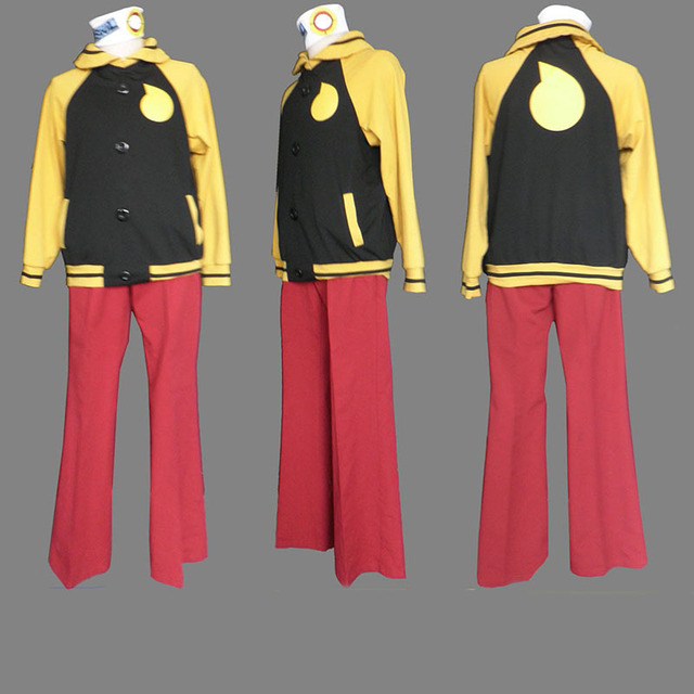 Anime Soul Eater Evans Cosplay Costume Full Suits Casual Wear Uniform  Hoodie Jacket Outfits Free Shipping