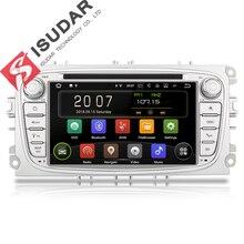 Isudar авто видео регистратор навигации Автомагнитола DVD плеер 2 Din на Android 8.1.0 для автомобилей FORD/Focus/S-MAX/Mondeo/C-MAX/Galaxy/Fiesta WIFI USB Радио FM Bluetooth