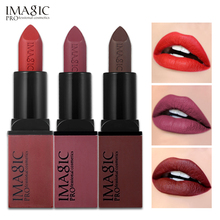 12PCS/LOT IMAGIC Lipstick Creme Dnude Soft Blankety Born Brave Pink 3 Colors Lip Paint Kit