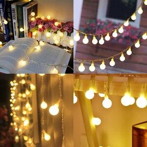 Image 3 - 30 M 300 נורות כדור פיות אורות מחרוזת LED חג המולד גרלנד אורות קישוט חג מסיבת חתונה חיצוני תאורה שרשרת