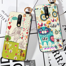 Wrist strap Cases For Nokia X7 Case 8.1 Cute Animal Cartoon