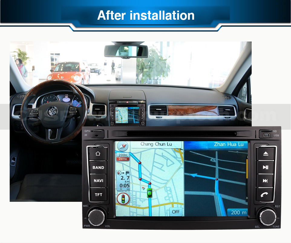 Cadeaux gratuits Quad Core Android Fit VW TOUAREG 2002 2003 2004 2005-2010 lecteur DVD de voiture GPS Radio DVD Radio Navigation multimédia