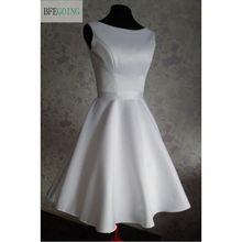 A-line Strapless Knee-length Satin Bridesmaid Dress with Sas