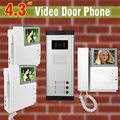 "3 Apartment Video Door Phone Intercom 4.3"" Landline video  Intercom System For Apartments Doorphone Intercom"