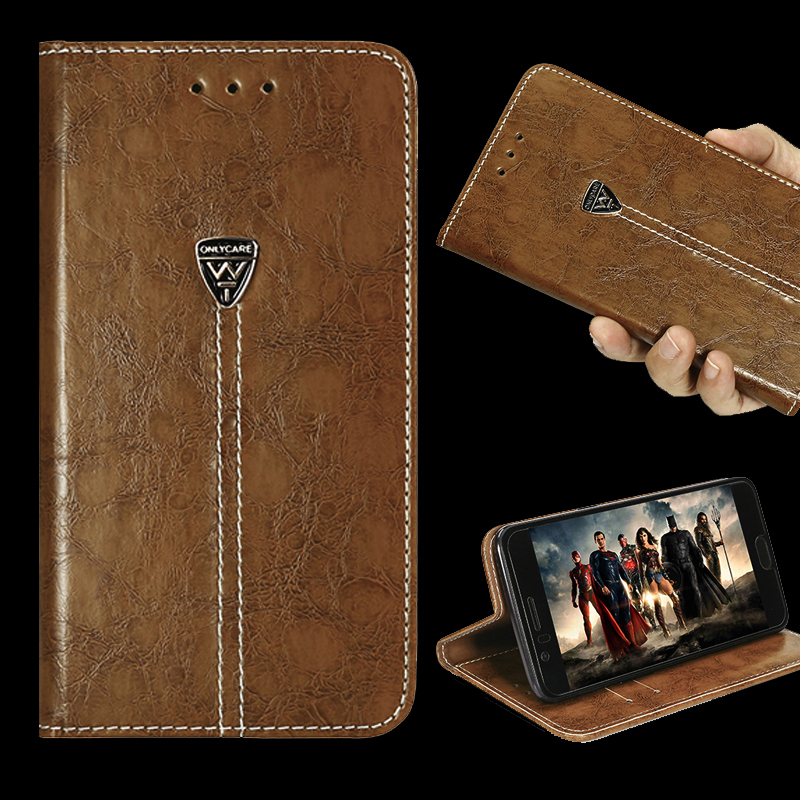 New luxury phone back cover flip contracted leather 5.0 inch For Alcatel One Touch Pop 2 5.0 7043A <font><b>7043Y</b></font> 7043K 7044 case image