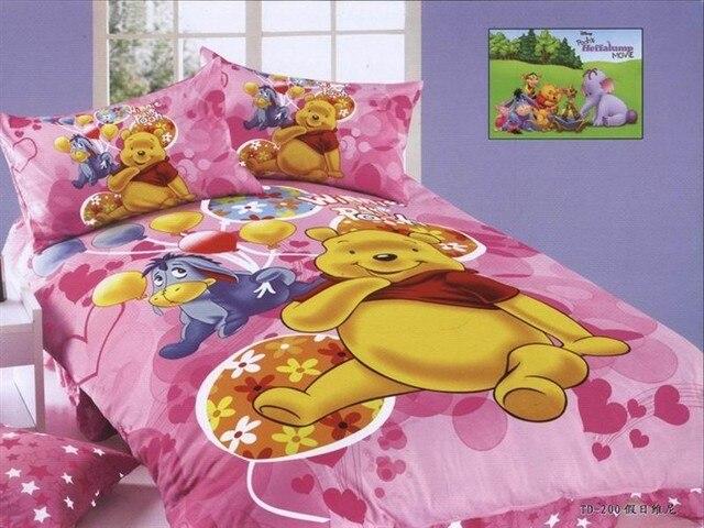 Rose Winnie l\'ourson literie unique taille double lit couette couvre ...