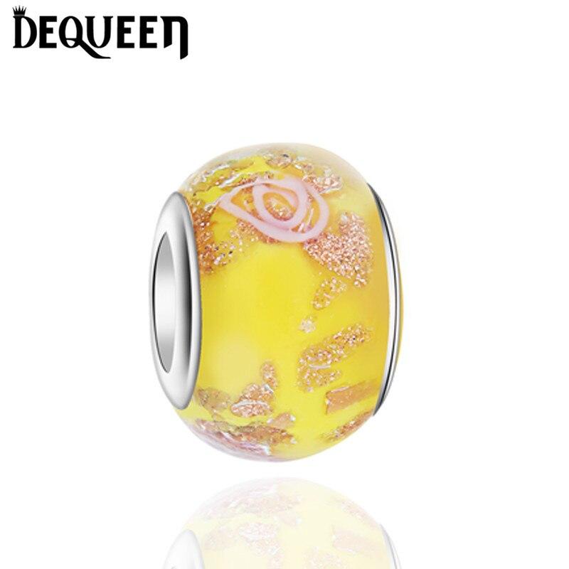 11c2a5d9b1fc Nueva llegada al por mayor color de rosa amarillo azul Murano Amuletos  vidrio Cuentas para DIY encanto pulsera de fabricación y envío libre