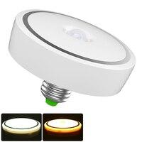 PIR LED Bulb E27 9W 12W 18W Motion Sensor Lamp Auto Switch Infrared Smart Turn On/Off LED Light Annular Shape For Ceiling Aisle