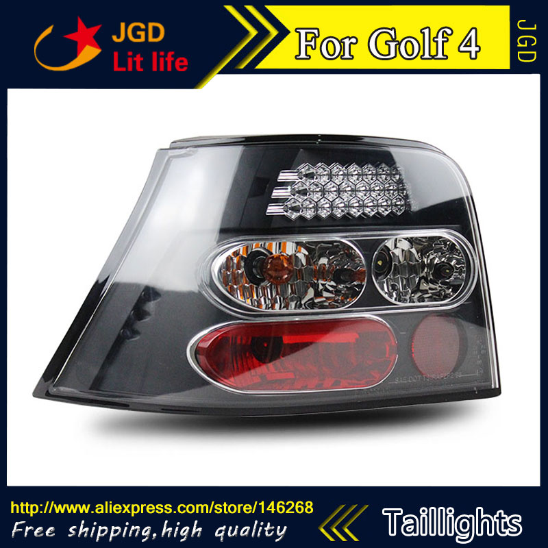 Car Styling tail lights for VW Golf 4 taillights LED Tail Lamp rear trunk lamp cover drl+signal+brake+reverse car styling tail lights for hyundai santa fe 2007 2013 taillights led tail lamp rear trunk lamp cover drl signal brake reverse