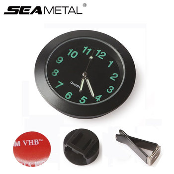 2bd5677ec08e Venta caliente reloj Universal de reloj de cuarzo de coche reloj Digital  puntero luminoso tablero reloj automóviles Interior Accesorios