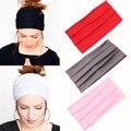 Deportes de la moda de las mujeres abrigo de la cabeza diadema ancha yoga estiramiento banda de pelo turbante