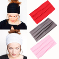 Women's Fashion Sports Stretch Wide Headband Head Wrap Yoga Hair Band Turban