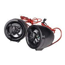 1 Pair Motorcycle Replace MP3 Music Player Audio Speaker Alarm System For Any Motorbike Universal