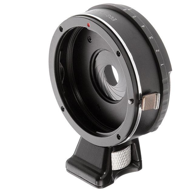 Anel adaptador de lente de abertura integrado, para canon eos ef lente para m4/3 micro 4/3 gh5 gf6 g7 E M5 E M5 ii câmeras E PL1