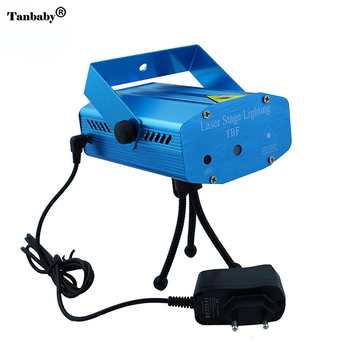 Tanbaby Red Green Laser Stage Lighting Mini Star Show Projector Lights Sound Active with EU Power Plug For Party Discor Club