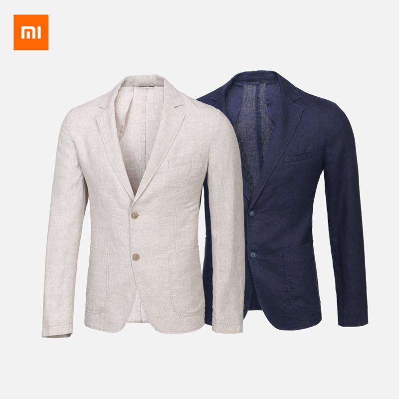 Xiaomi Mijia Youpin 100 linen breathable slim suit Natural linen Comfortable breathable 3D cropping Leisure business
