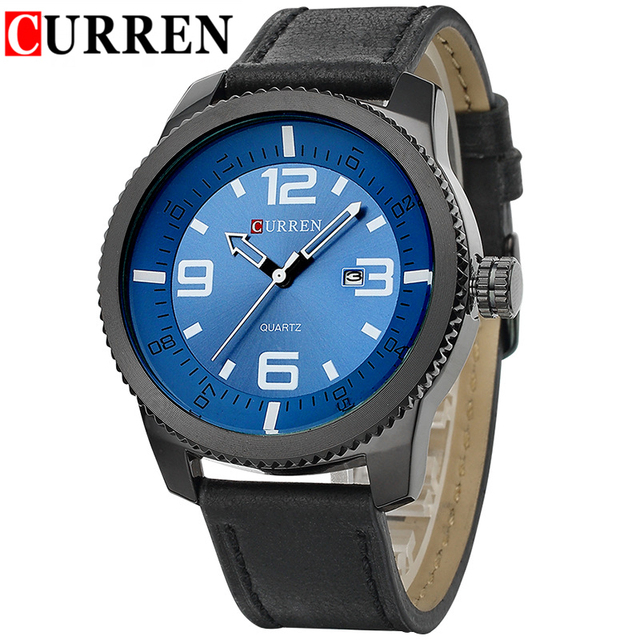 e8e991dbe21b Hombres Marca Relojes de Lujo Calendario de La Moda Curren Reloj de Los  Hombres Casual Deportes