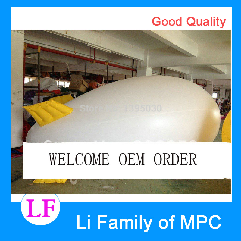 13ft LENTH  Inflatable Advertising Helium Blimp/Airship/Zeppeline for Events/Exhibition/Solid color ao058b 2m white pvc helium balioon inflatable sphere sky balloon for sale attractive inflatable funny helium printing air ball