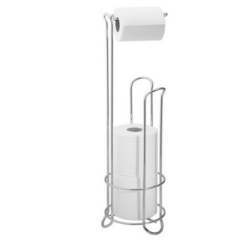 Storage Holders European Style Roll Stand Popular Modern Minimalist Stainless Steel Floor Type Toilet Paper Storage  Holder