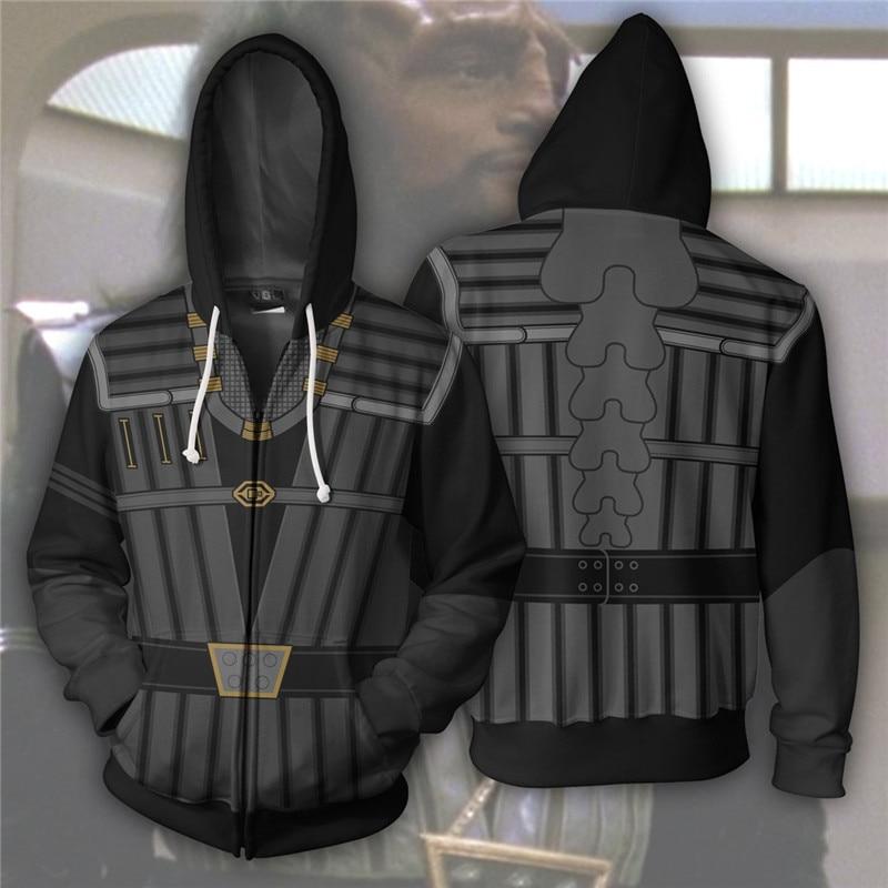 Star Trek Klingons Cosplay Costume Men's Sweatshirt Hooded Uniform Streetwear Women Mens Hoodies Zipper Hoddies