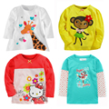 2017 New Autumn Baby Girl T Shirt Long-Sleeve Kids Clothes Girls Tops Baby Girls Clothes Children Clothing Cotton Knitted