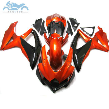 Customized Fairing kits for SUZUKI GSXR 600 750 2008-2010 K8 full fairings kit GSXR 600 K8 K9 08 09 10 red golden parts