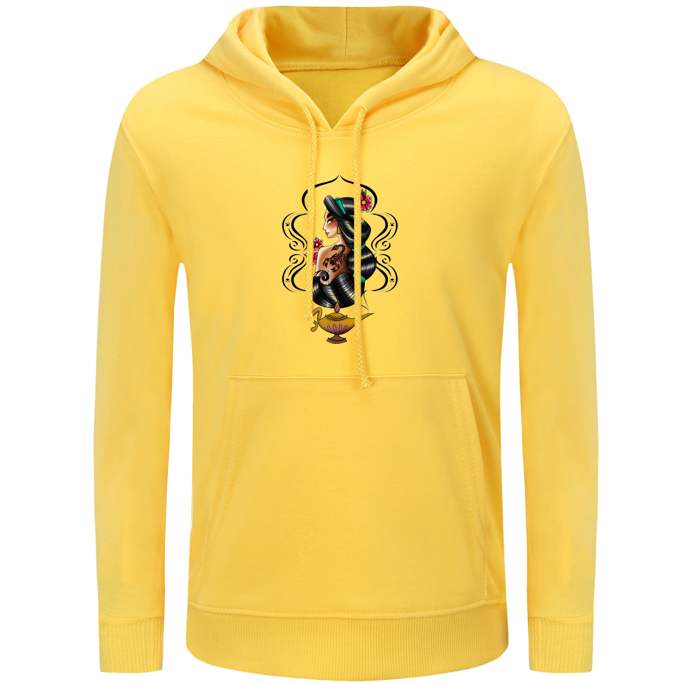 8045e1e178e1 Sudaderas con capucha para mujer iDzn Aladdin y la lámpara mágica princesa  Jasmine Punk tatuaje fumar Casual estilo sudaderas para chicas s 3XL en  Sudaderas ...