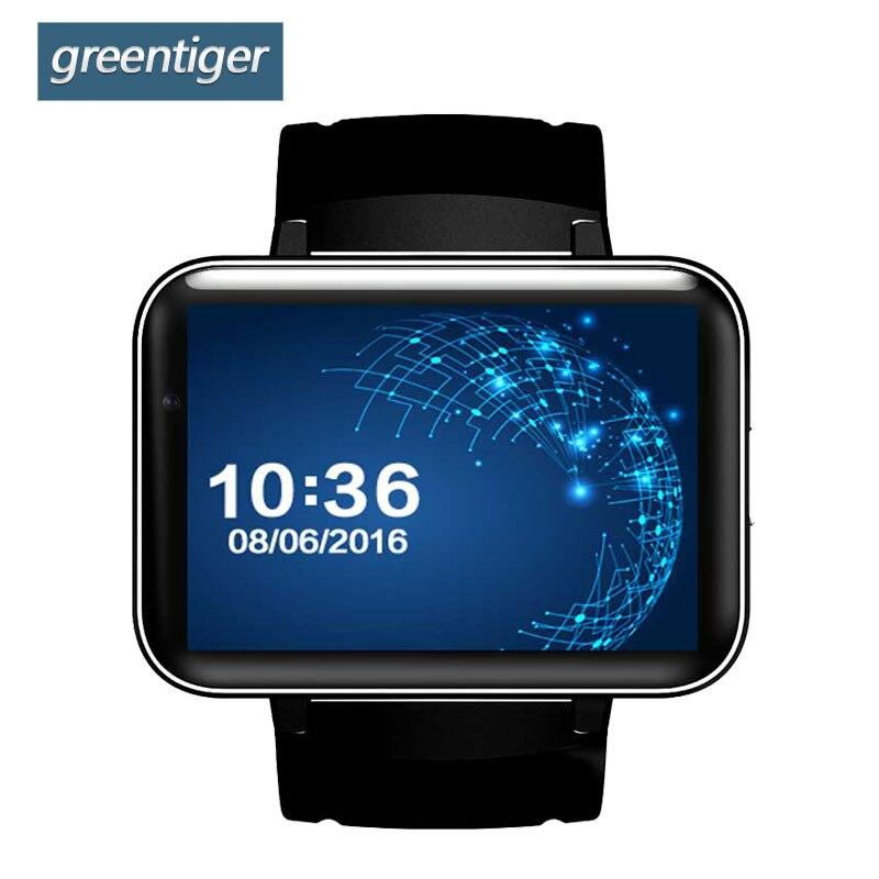 Greentiger DM98 GPS Smart Watch 2.2 inch Screen MTK6572 900mAh Battery Android OS 3G WCDMA WIFI Sports Tracker Smartwatch 3g wcdma pet gps tracker v40 waterproof intelligent wifi anti lost gps wifi electronic fence 3g gps tracker