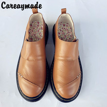 Careaymade-2019 new spring and autumn handmade Genuine Leather leisure Shoes,thick bottom Japanese style female single shoes