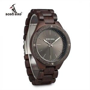 Image 5 - BOBO BIRD Watch Men Quartz Wooden Wristwatches Top Brand Luxury Mens Watches in Wooden Box relogio masculino Great Mens Gift