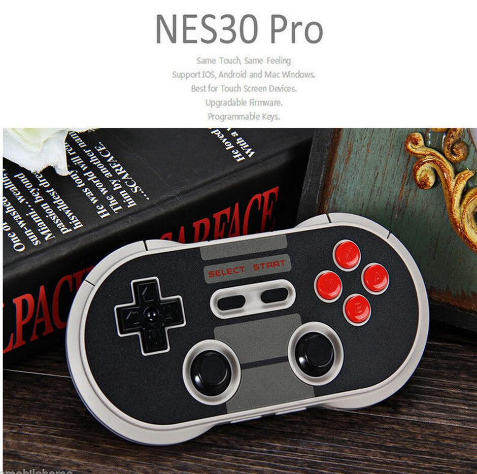 Portable Wireless Bluetooth Classic 8Bitdo NES30 Pro Game Controller for iOS Android Gamepad PC Mac