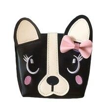Детская сумка для девочки с бантом, собачка, сумка на плечо, Детский кошелек из искусственной кожи, сумка-мессенджер, Детская сумка через плечо, кошелек