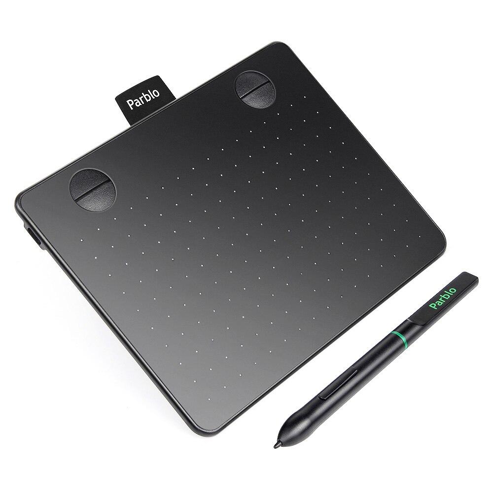 Parblo A640 7.2 x 5.9 Signature Art Design Professionnel tablette graphique avec 4 Raccourci Touches 8192 Stylo Pression 5080LPI