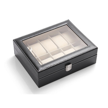 6/10/20/24 Grids Watch Display Case PU Leather Storage Box Jewelry Organizer XHC88 цена и фото