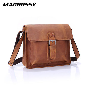 Vintage Oilwax Leather Messenger Bag Men Shoulder Bag Casual Male Briefcases Laptop Handbags Genuine Leather Crossbody bags