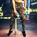 Осень мода новый Корейский мужские камуфляжные брюки Харлан ноги штаны Тонкий брюки YF25