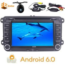 Free camera Car stereo Radio Android 6.0 DVD Player Headunit Navigation For Volkswagen Skoda POLO GOLF PASSAT CC JETTA OBD2 WIFI