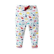 цены на Baby Girls Pants Kids Cartoon Dinosaur Print Full Length Trousers for Girls Baby Spring Autumn Cotton Leggings Children Pants  в интернет-магазинах